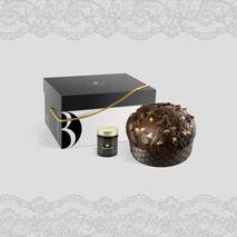 18 Carat Panettone Modica Chocolate (1000gr) + Modica Bonfissuto Chocolate cream jar
