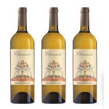 "Chiarandà ""The Great Vintages"" - Special wooden house for 3 bottles with hollow Donnafugata blade caps"
