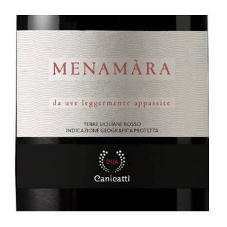 Red Menamàra (from lightly dried grapes) Sicilian Lands IGP CVA Canicattì CVA Canicatti